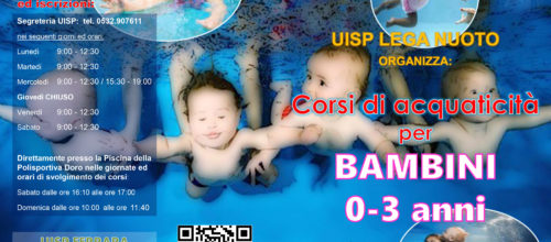Corsi di Acquaticità per bimbi da 0 a 3 anni e Ginnastica in acqua per gestanti